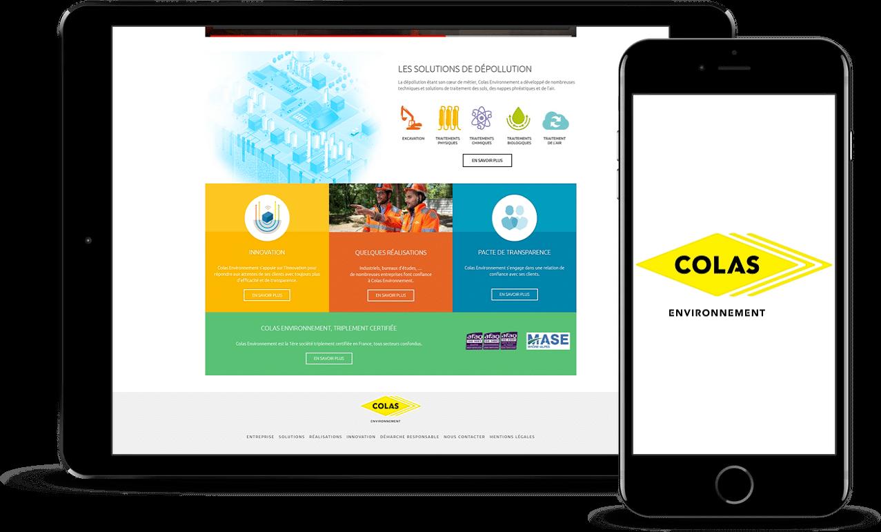 Accompagnement web – Colas Environnement