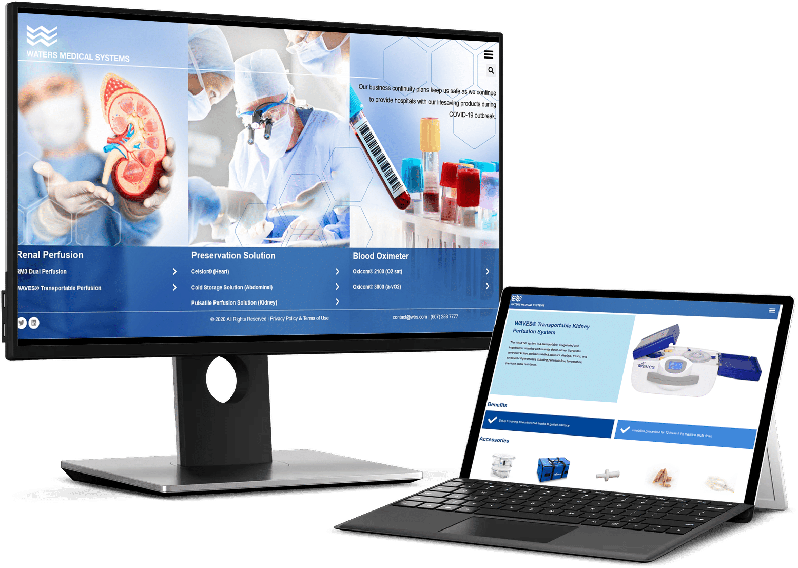 Refonte de site web – Waters medical