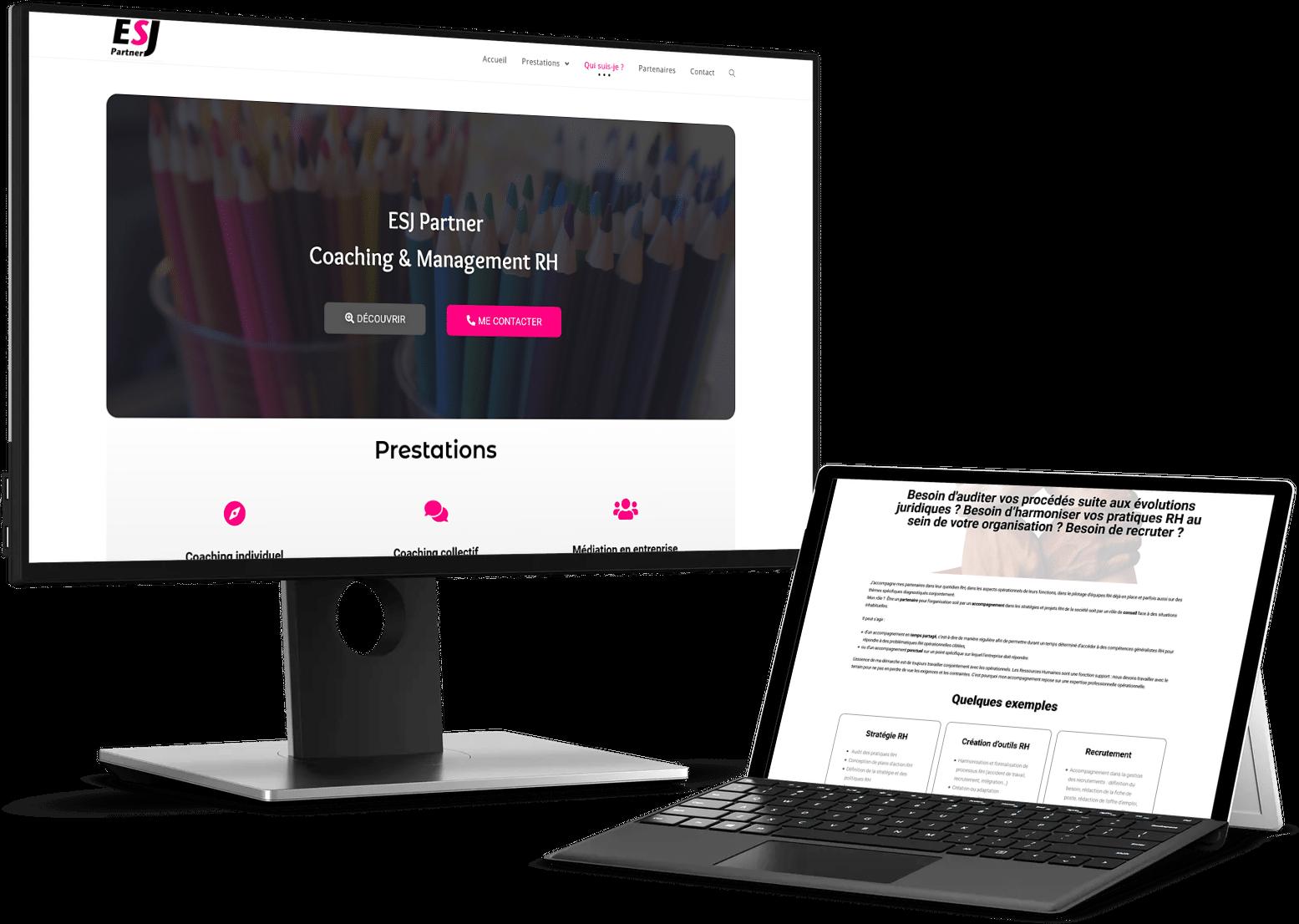 Read more about the article Création de site web – ESJ Partner