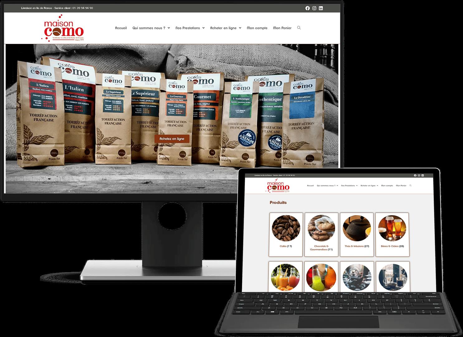 Création site e-commerce – Maison Como