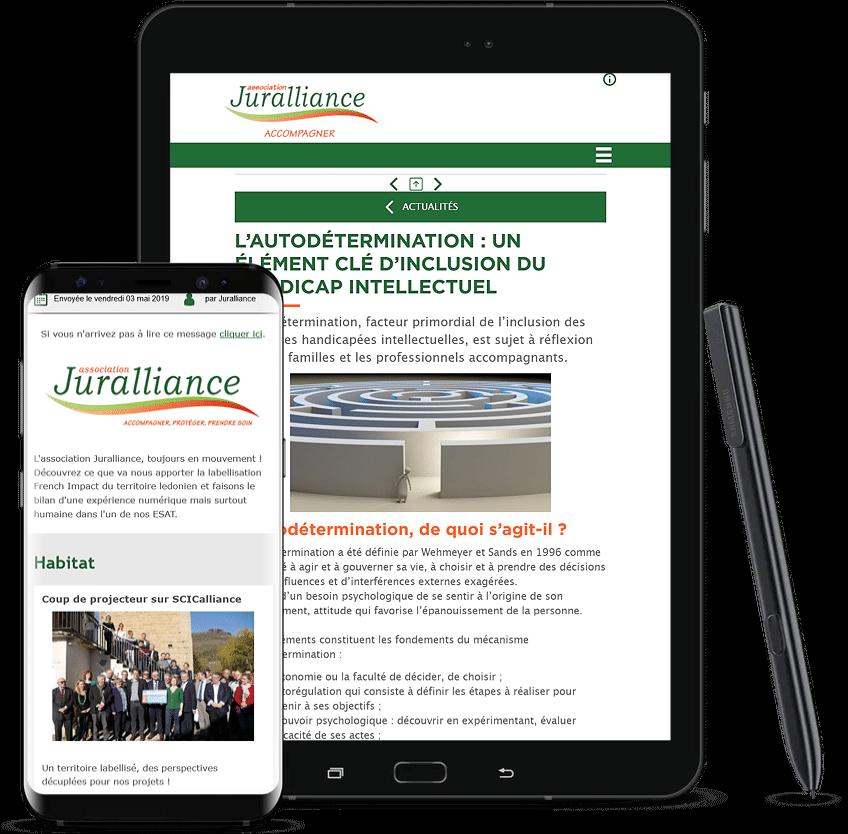 Création de contenus – Juralliance