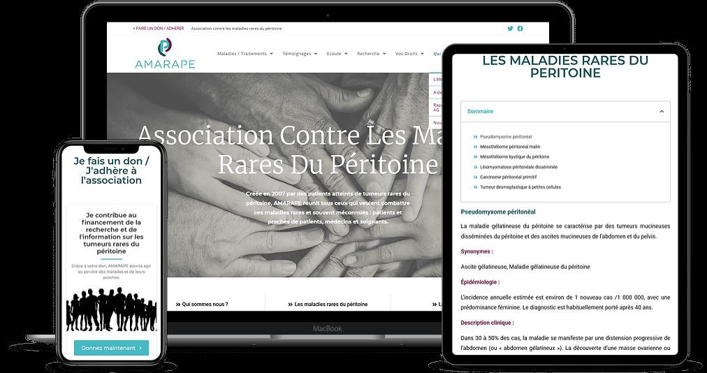 Read more about the article Refonte de site web – AMARAPE